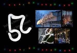 CHRISTMAS FAIRY LIGHTS HOOKS EXTERNAL GUTTER CLIPS HANGING OUTDOOR DECORATION