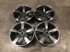 "18"" TTRS Rotor Style Alloy Wheels Gun Metal Machined Audi A3 A4 A6 5x112 66.6"
