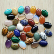 Wholesale 30pcs/lot natural stone mixed Oval CAB CABOCHON stone beads 13x18mm