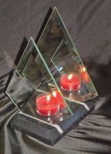Partylite Marble & Mirror Lite Myraid images tea light holder - P0357 ~ Nib