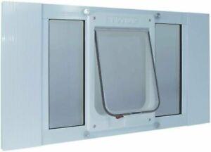 "Ideal Pet Aluminum Sash Chubby Cat Window Pet Door 7.5"" x 10.5"" Flap Size"
