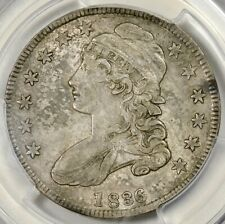 CAC PCGS XF45 1836 50/00 LETTERED EDGE