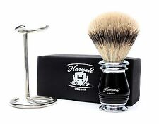 Pure Sliver Tip Badger Hair Men's Shaving Brush In Ivory With Stainless Stand