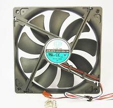 140mm 25mm New Case Fan 12V DC 153CFM CPU Computer Cooling 3Pin Ball 14025 381*