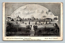 1908 Bird's-Eye View of Kingswood College Campus Kentucky KY Postcard