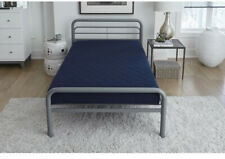 6 inch Quilted Mattress Twin Size Navy Blue Bedroom Guest Futon bunk daybed