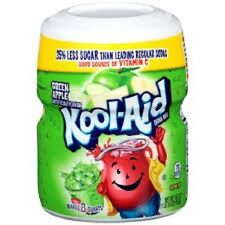 Kool Aid Green Apple 553g -Tub