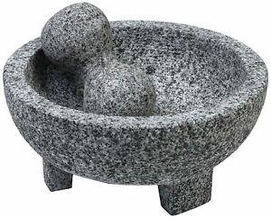 Molcajete Bowl 6 Inch Small Mexican Guacomole Maker Mortar and Pestle Guac Stone