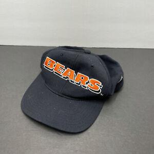 Vtg 00s CHICAGO BEARS NFL Blue Strapback HAT CAP NFL Team Apparel | Free Ship!