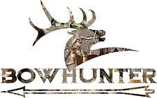 Camo bow hunter  sticker