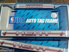 """2 Miami Heat Chrome """"Bling - Glitter"""" Auto License Plate Frames"""