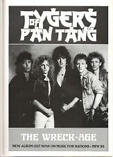 TYGERS OF PAN TANG  The Wreck-Age UK magazine ADVERT / mini Poster 11x8""