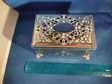 Gorgeous Precious Memories Rainbow Rhinestones & Inlaid Metal Jewelry Music Box