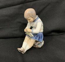 Dahl Jensen (Dj) Grete 1197 Girl Knitting Porcelain Figure Copenhager Denmark