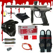 Spyder Fenix .68 CAL Paintball Gun Kit  READY PLAY BLOOD PACKAGE - Silver Grey