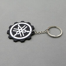Black Motorcycle Rubber Keyring Keychain Key Chain Ring For YAMAHA YZF Cool Gift