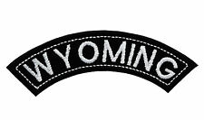 WYOMING TOP MINI ROCKER EMBROIDERED MOTORCYCLE PATCH