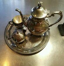 Antique Collectable Rogers Silver Co 1883 5 Piece Tea Set