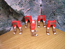 (F 4/9) 5 X GAMBE rosso marrone sandali Römer legionario CENTURIONE TRIBUNE