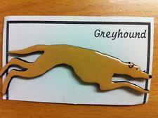 Handmade wooden tan galgo greyhound lurcher brooch