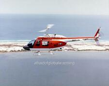 Old Photo.  Sky View Navy Bell Jet Ranger Helicopter 42 in Flight