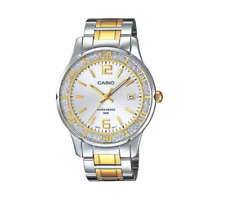 Casio LTP1359SG-7AV Women's Sprinkled Bezel Two Tone Gold Metal Fashion Silver