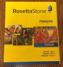Rosetta Stone LEARN FRENCH Levels 1  - V4  SOFTWARE-NEW-SEALED -  MSRP $139.00US