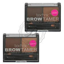 Technic Brow Tamer - Eyebrow Brow Wax Powder Comb Brush Define Shape Medium Dark