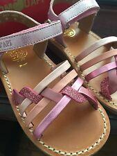 Pom D'Api - Toddler Girls Pink Rose Strap Sandal Size 25 (8.5-9) NIB
