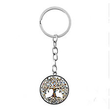 Vintage Glass photo Cabochon charm silver Matal Key ring(celtic Tree of life)