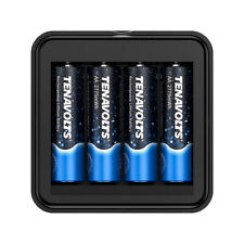 TENAVOLTS AA 1.5V Lithium Rechargeable Batteries 4-pack Micro USB charger