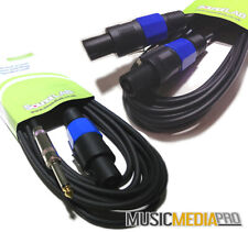 Speakon And Jack Cable Speaker Lead PA - All Lengths Passive 1m 2m 3m 4m 5m 10m