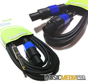 Speakon And Jack Cable Speaker Lead PA - All Lengths Passive 1m -10m SPEAK-ON