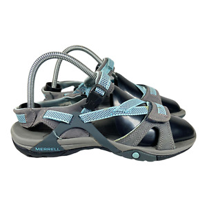 Merrell Women's Azura Strap Bering Sea Gray Blue Hiking Sandal Performance Sz 8