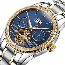 PASOY Carnival Mens Watch Automatic Mechanical Tourbillon Stainless Stell #4TT