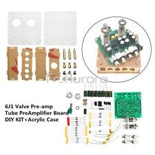 12V 6J2 Valve Pre-amp Tube Board Headphone Amplifier+Acrylic Case DIY Kit R/ 6J1