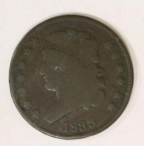 1833 Classic Head Half Cent b1a7