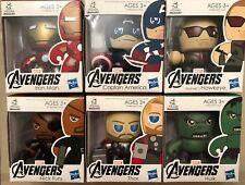 Mini Muggs Marvels Avengers Lot Of 6 Figures Hulk Iron Man Thor Capt America New