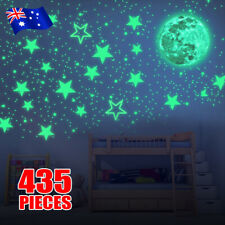 435PCS Glow In The Dark Wall Stickers Kids Room Decor Star Moon Decal Luminous
