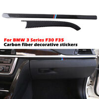Real Carbon For BMW F30 F31 F34 F36 Interior Toolbox Glovebox Handle Accessories