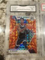 Ja Morant GMA 10 Orange RACTV and Zion Williamson PSA 9 NBA DEBUT MOSAIC HOT RC!