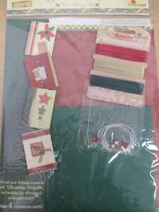 Card Making Kit All you need to make 4 Christmas cards, Embellishments Envelopes