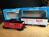 Vintage Tyco HO Train Cars CN Caboose 79249 / Swift Refrigerator Line SRLX 1020