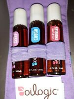 3 pks Oilogic 100% pure essential oil  set - sleep-cough-troubles-in pouch