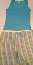 Pajamas womens size M 8-10 new tank 60% cotton 40% polyester pants 55% cotton