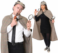 SHERLOCK HOLMES DETECTIVE COSTUME CAPE HAT ADULTS BOOK DAY CHARACTER FANCY DRESS