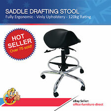 Saddle Drafting Stool, Office Teller Laboratory Bench Sit Stand Gas lift Chairs