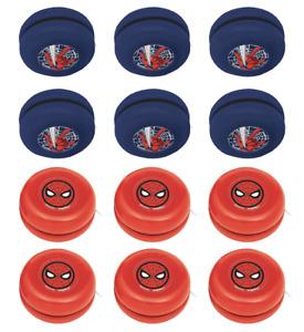 Spider Man Mini YoYo Boys Birthday Party Favors ~ (12ct) SpiderMan Webbed Wonder