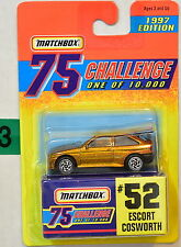 MATCHBOX CHALLENGE 75 1997 EDITION #52 ESCORT COSWORTH