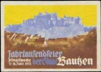 Reklamemarke Jahrtausendfeier der Stadt Bautzen - 386886